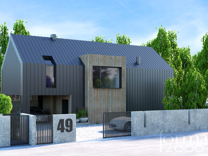 Wizualizacja projektu Jednorodzinnego Domu