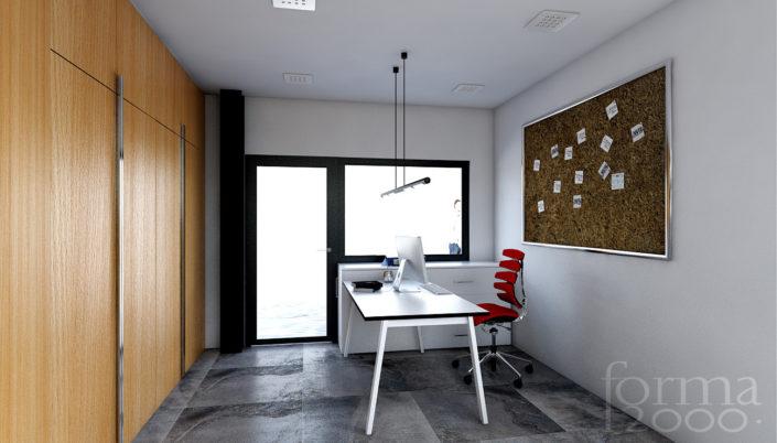 Wizualizacje pomieszczeń biurowych - pomieszczenie biurowe